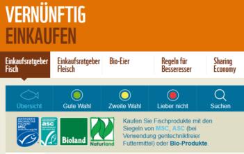 WWF, Fische, Einkaufsführer, Süsswasserfische, Salzwasserfische