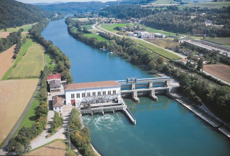 Kraftwerk Rekingen, Reckingen, Neukonsessionierung, Rhein, Flusskrafwerk, AFV