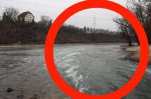 Kühlwassereinleitung KKW Beznau an der Aare (CH)